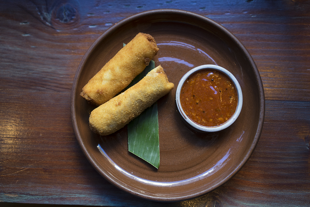 Mutton Rolls with sambal sauce
