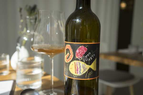The wine list includes some more modern wines like 'Orange' Pinot Gris from Italy