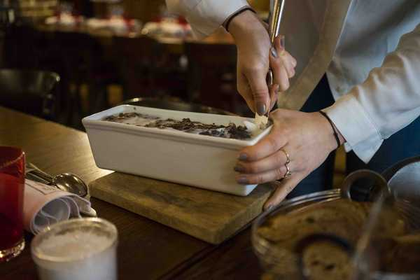 Terrine is served and you 'help yourself'