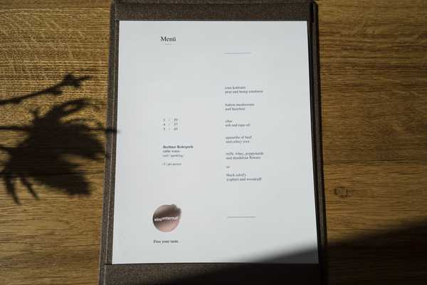 The set lunch menu example