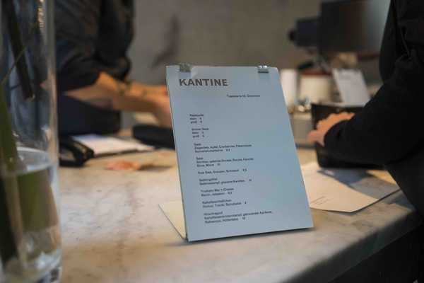 Kantine lunch menu