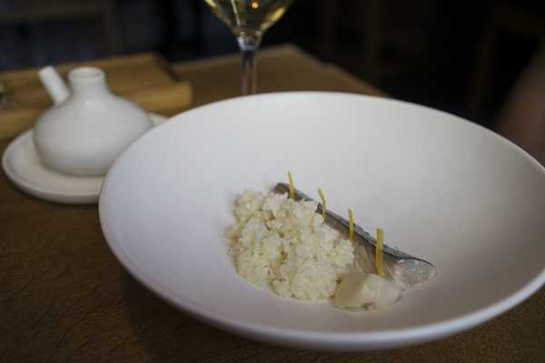 Mackerel and cauliflower
