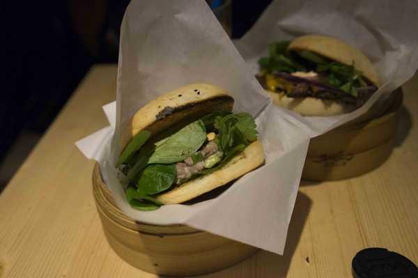 Shiso burger with tuna