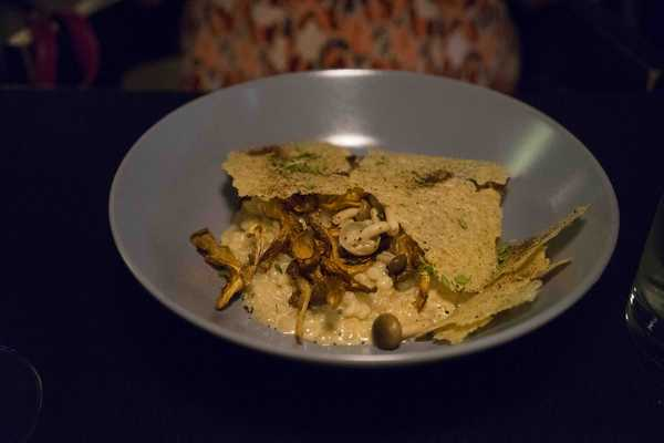 Pearl barley rissotto with mushrooms