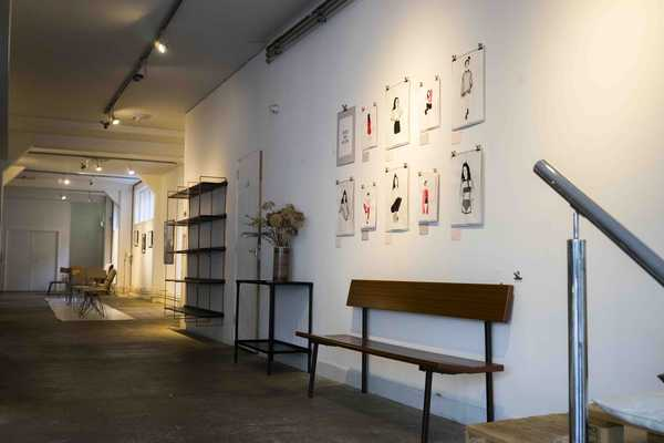 Hutspot is a creative space with artists' work on the walls